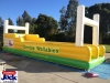 rugby inflatable water slide
