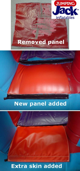 Jumping Castle Remove Replace Panel